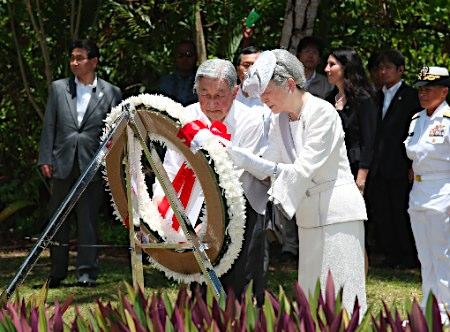 20150408 両陛下ペリリュー島ご訪問