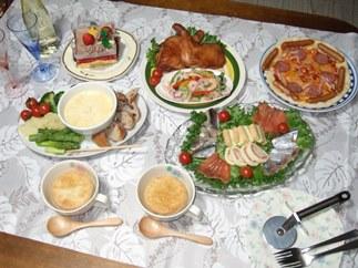 12/25 夕食 クリスマスディナー