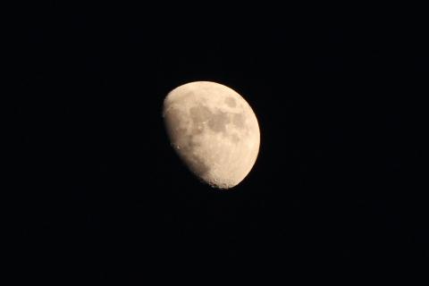 大晦日の月(20141231)