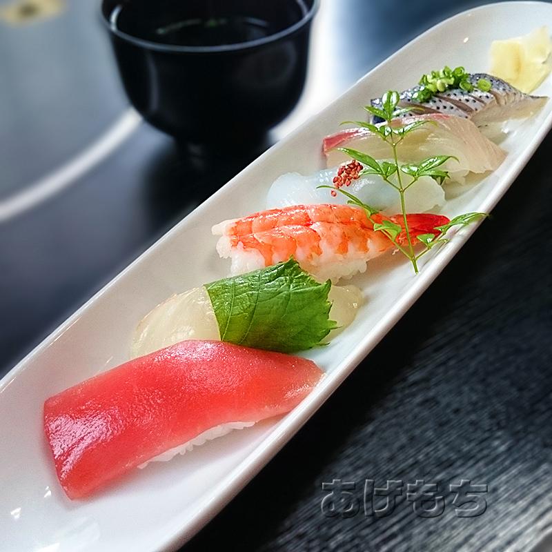 華かご膳のにぎり寿司