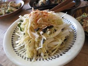 白菜と韓国のりのサラダ2