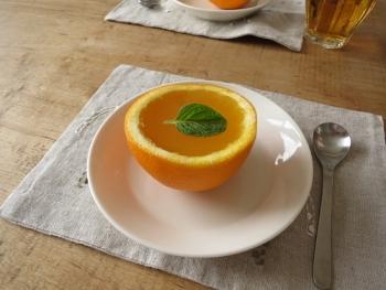 オレンジのゼリー