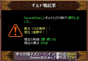 15.7.5Seven☆Stars様 結果