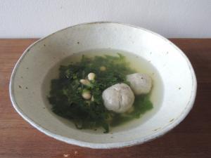 まなと大豆と鰯のスープ