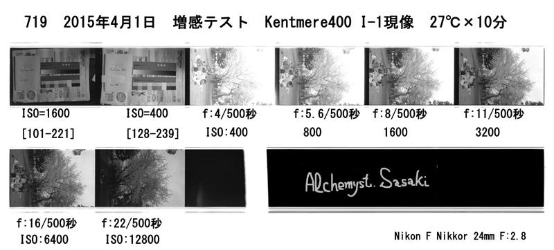 Index 719 現像テスト