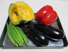 彩り野菜の揚げ浸し 材料