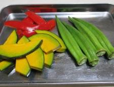 彩り野菜の揚げ浸し 調理②
