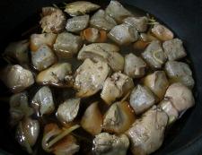 鶏レパーとこんにゃくの甘辛煮 調理③
