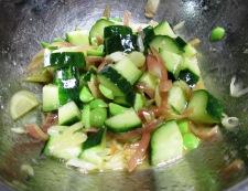 トマト&枝豆 調理②