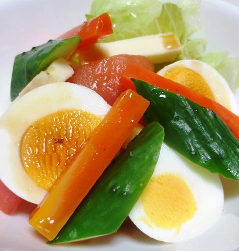 ゆで卵のサラダ 大