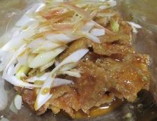 鶏皮とねぎのわさびポン酢和え 調理⑤