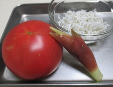 トマト&しらす干し 材料