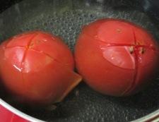 イカと夏野菜のフレッシュトマト煮 【下準備】②