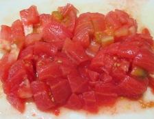イカと夏野菜のフレッシュトマト煮 【下準備】③