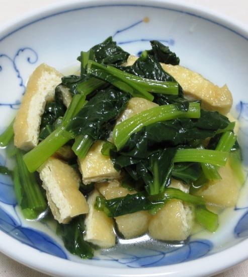小松菜とお揚げの煮物 B
