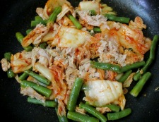 ツナ豆腐キムチ炒め 調理②