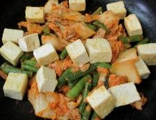 ツナ豆腐キムチ炒め 調理③