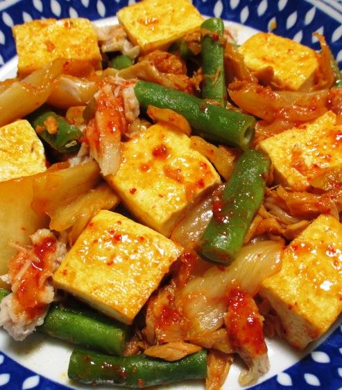 ツナ豆腐キムチ炒め B
