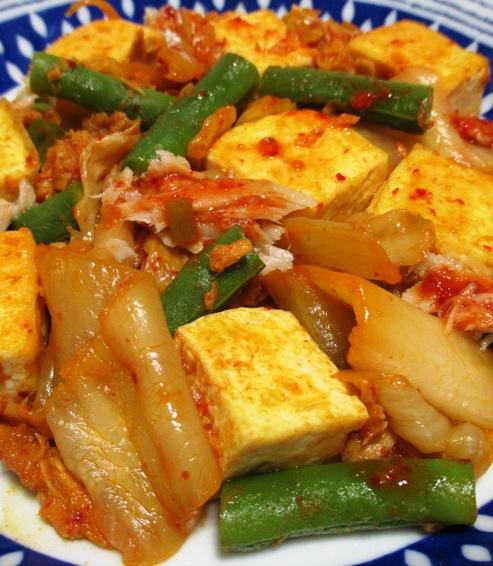 ツナ豆腐キムチ炒め 拡大
