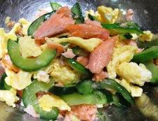 焼き鮭と炒り卵の三倍酢 調理⑥