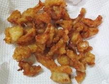 鶏皮の唐揚げ一味唐がらし風味 調理⑥