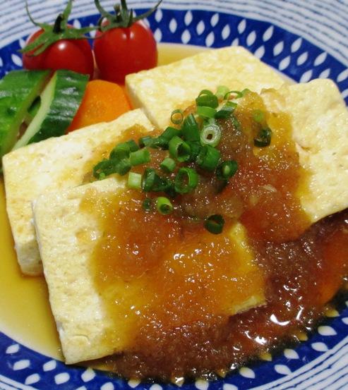 豆腐ステーキ 柚子こしょうオニオンソース 拡大