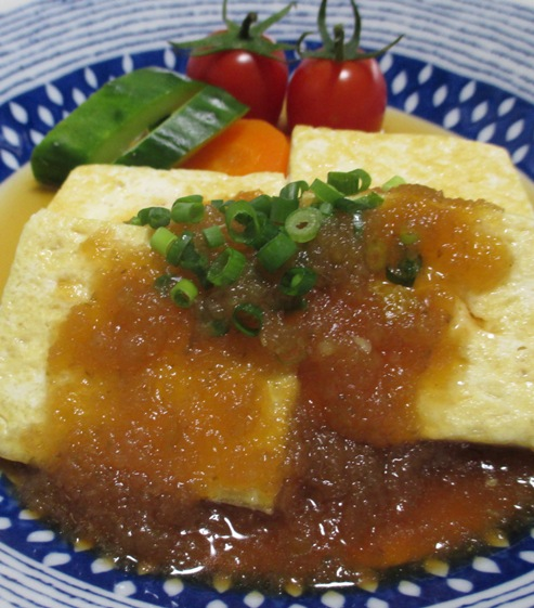 豆腐ステーキ 柚子こしょうオニオンソース B