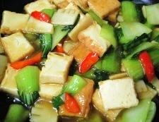 絹揚げの家常豆腐風 調理⑥