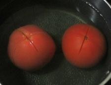 トマトとナスの冷し鉢 調理①