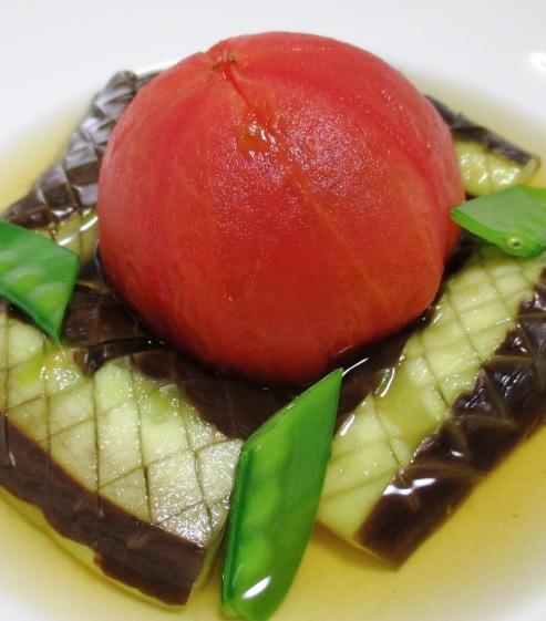トマトとナスの冷し鉢 拡大