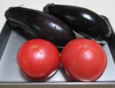 トマトとナスの冷し鉢 材料①