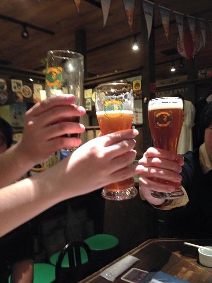 ヘリオスビールで乾杯!!