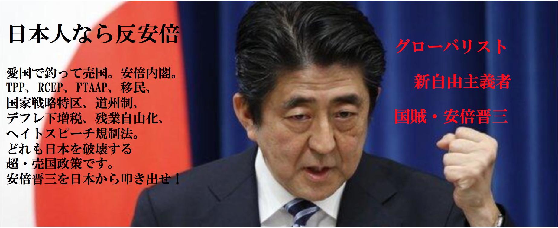 日本人なら反安倍FBバナー