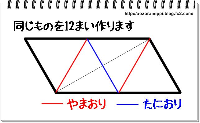 ユニット折り紙折り図
