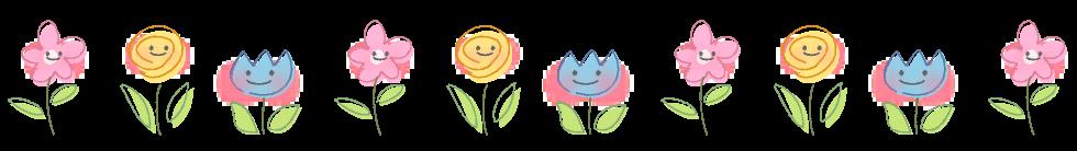 花イラストライン