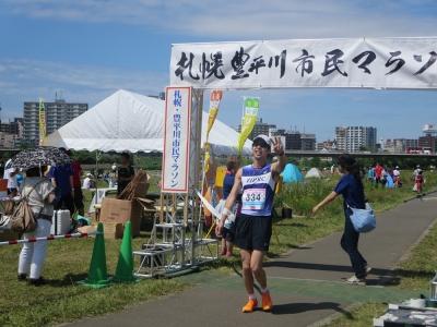 2015年豊平川マラソンキタさんゴール