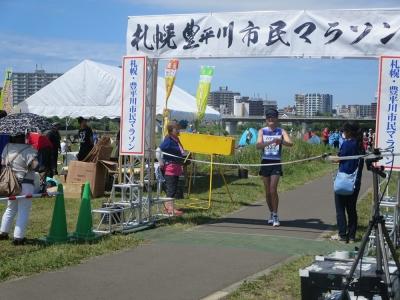 2015年豊平川マラソンゴール