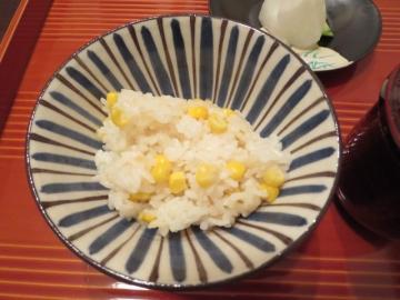 玉蜀黍と生姜のご飯