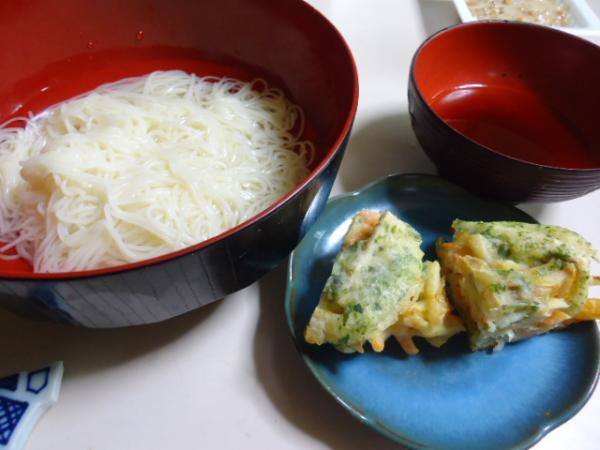 6/23 天ぷら納豆そうめん
