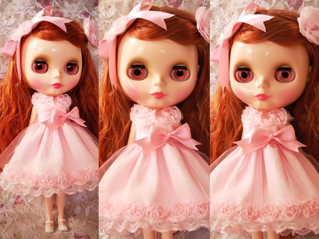 ◆ネオブライス服◆スウィートピンクな薔薇のドレス◇2