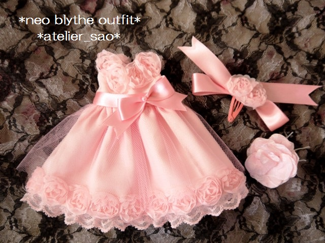 ◆ネオブライス服◆スウィートピンクな薔薇のドレス◇3
