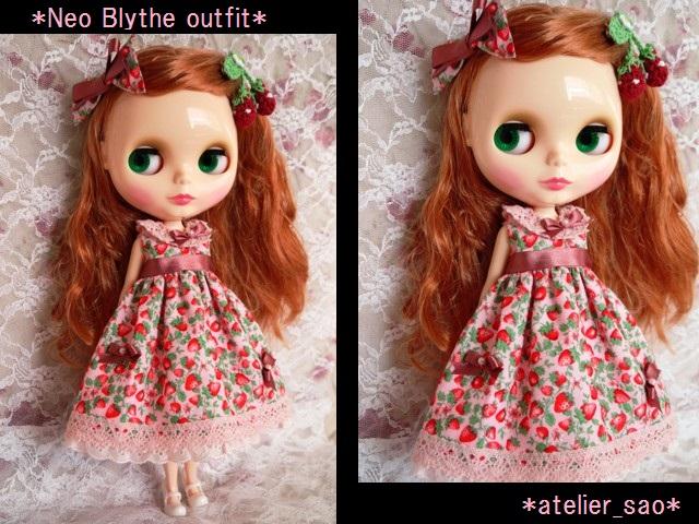 ◆ネオブライス服◆春いちごのピンクドレス◇1