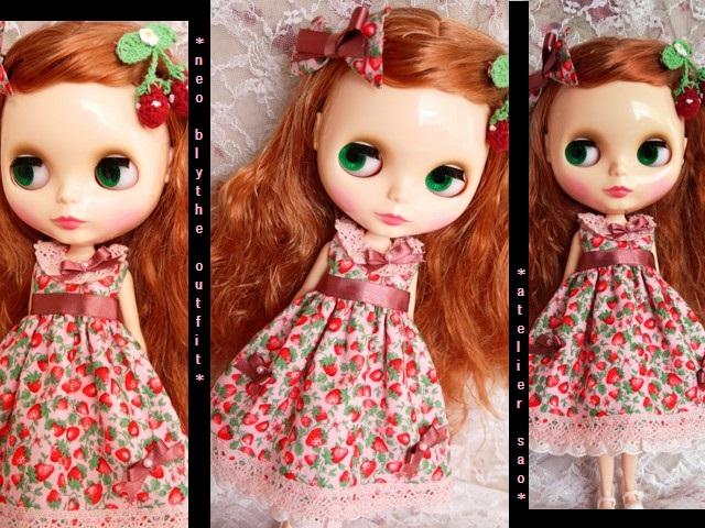◆ネオブライス服◆春いちごのピンクドレス◇2