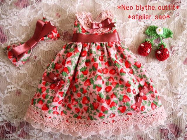 ◆ネオブライス服◆春いちごのピンクドレス◇3