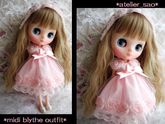 ◆ミディブライス服◆スウィートピンクな薔薇のドレス◇1