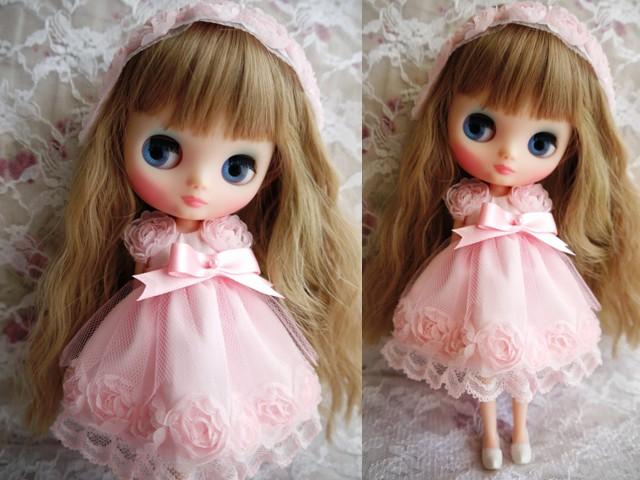 ◆ミディブライス服◆スウィートピンクな薔薇のドレス◇2