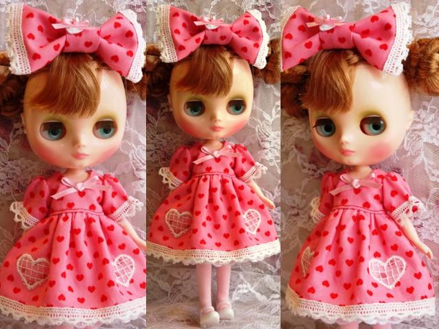 ◆ミディブライス服◆ハート柄ドレス ピンク◇2