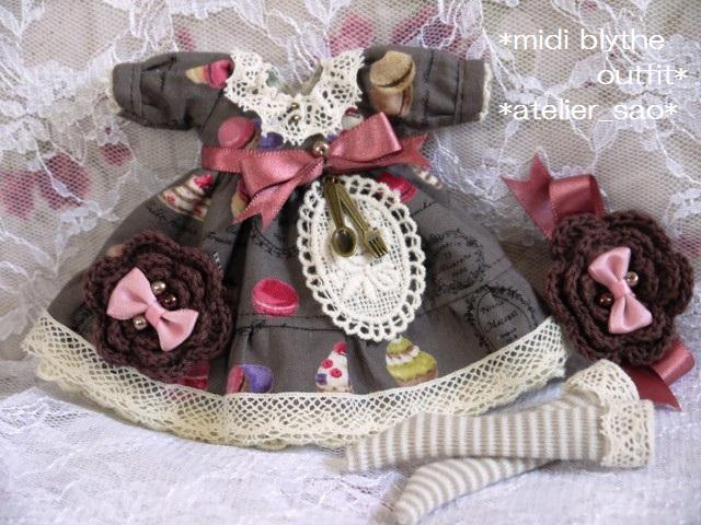 ◆ミディブライス服◆スウィーツ柄☆チョコレートブラウン◇3