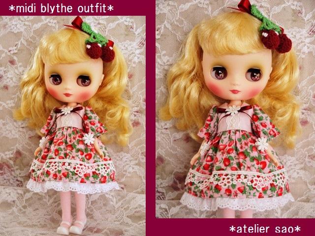 ◆ミディブライス服◆春いちごのドレス◇ピンク◇1