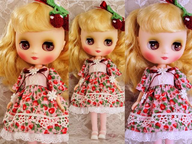 ◆ミディブライス服◆春いちごのドレス◇ピンク◇2